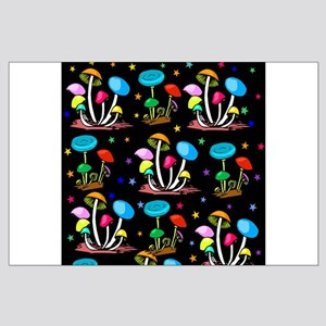 Rainbow Of Mushrooms Large Poster