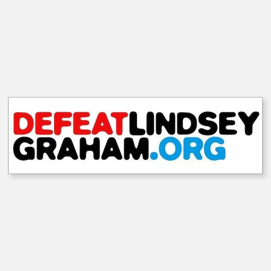DefeatLindseyGraham.org Sticker (Bumper)
