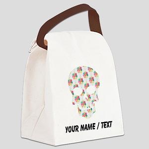 Custom Skull Colorful Balloons Canvas Lunch Bag
