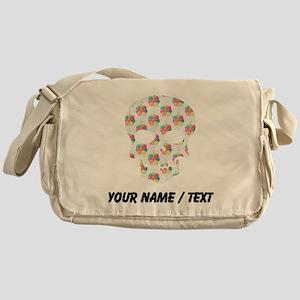 Custom Skull Colorful Balloons Messenger Bag