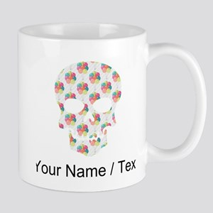 Custom Skull Colorful Balloons Mugs