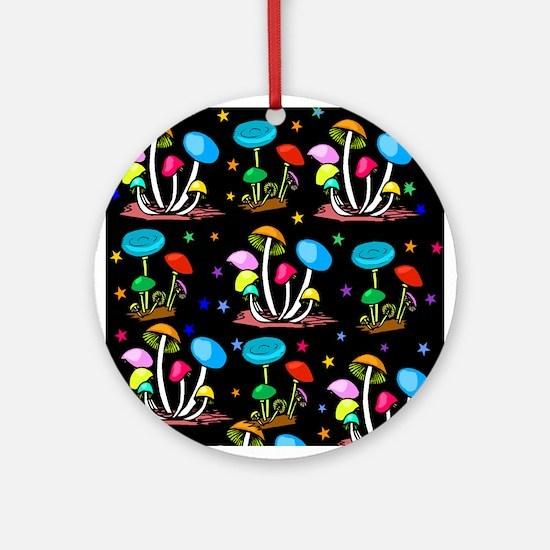 Rainbow Of Shrooms Ornament (Round)