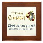 21st Century Crusades Framed Tile