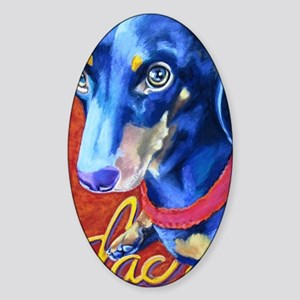 Dachshund Pastel Sticker (Oval)
