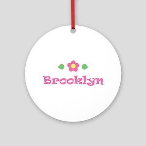 "Pink Daisy - ""Brooklyn"" Ornament (Round)"