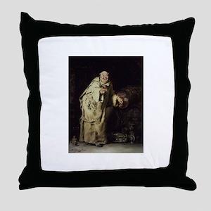 Drunk As a Monk Throw Pillow
