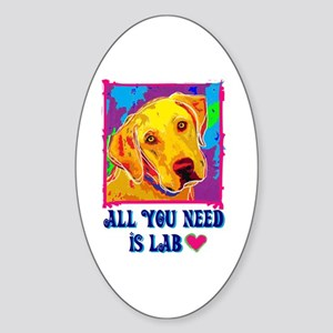 All You Need is Lab Oval Sticker