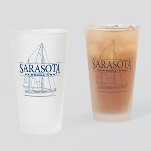 Sarasota FL - Drinking Glass
