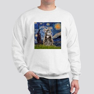Starry / Tiger Cat Sweatshirt