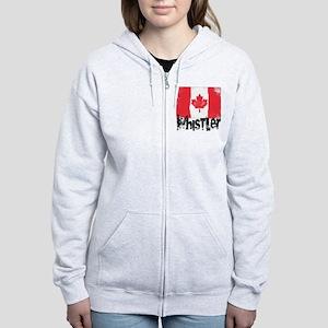 Whistler Grunge Flag Women's Zip Hoodie