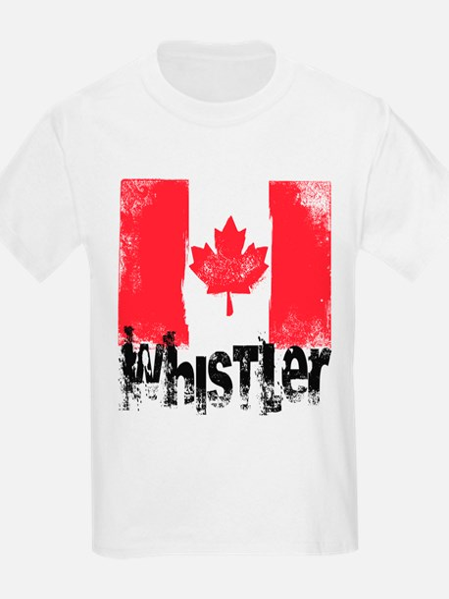 Whistler Grunge Flag T-Shirt