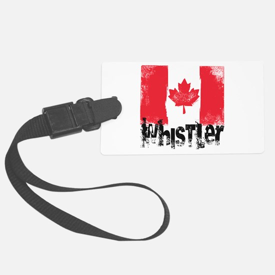 Whistler Grunge Flag Luggage Tag