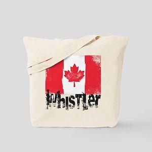Whistler Grunge Flag Tote Bag