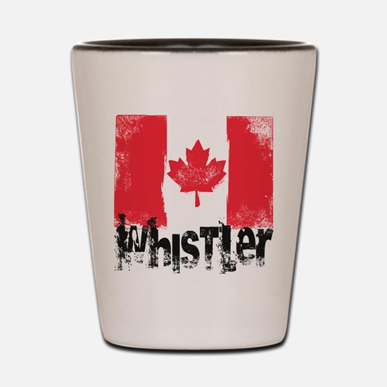 Whistler Grunge Flag Shot Glass