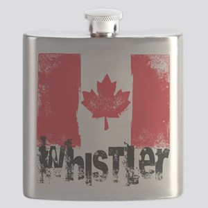 Whistler Grunge Flag Flask