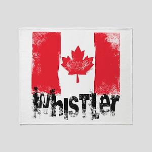 Whistler Grunge Flag Throw Blanket