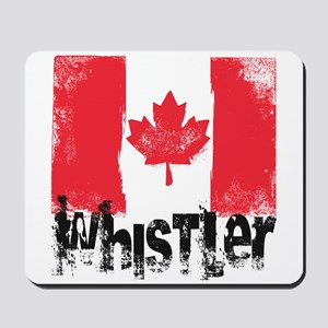 Whistler Grunge Flag Mousepad