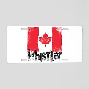Whistler Grunge Flag Aluminum License Plate
