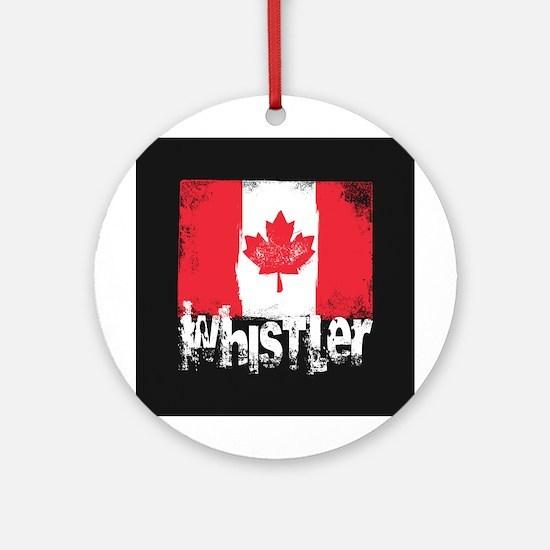 Whistler Grunge Flag Ornament (Round)