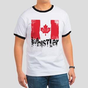 Whistler Grunge Flag Ringer T