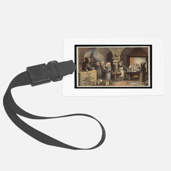 Drunk As a Monk Luggage Tag