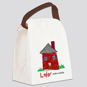 Love/Family Canvas Lunch Bag