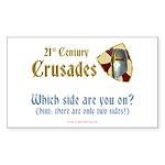 21st Century Crusades Rectangle Sticker