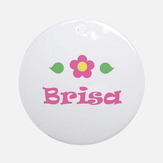 "Pink Daisy - ""Brisa"" Ornament (Round)"