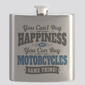 Biker Happiness Flask