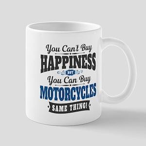 Biker Happiness 11 oz Ceramic Mug