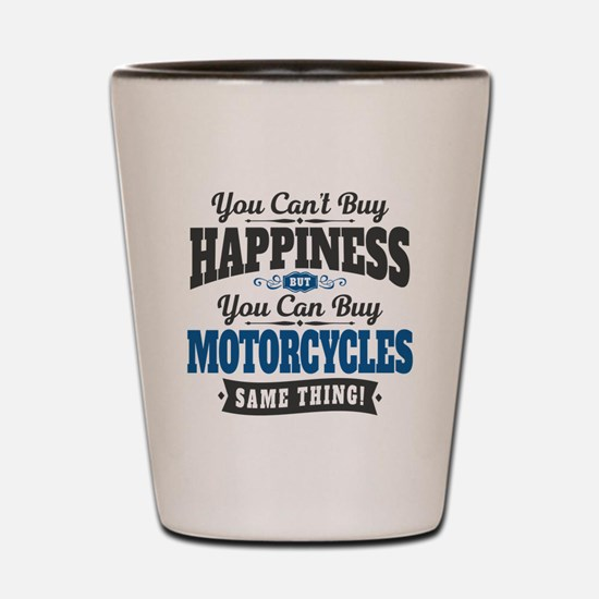 Biker Happiness Shot Glass