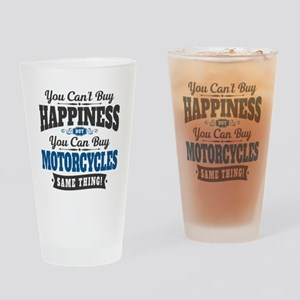 Biker Happiness Drinking Glass