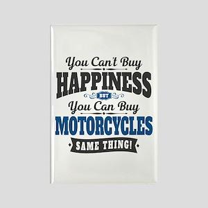 Biker Happiness Rectangle Magnet