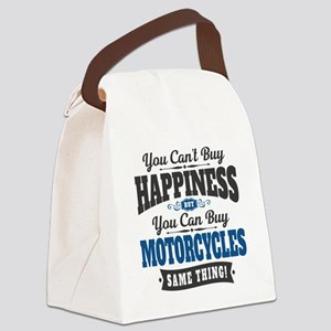 Biker Happiness Canvas Lunch Bag