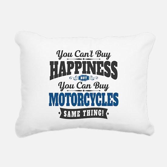 Biker Happiness Rectangular Canvas Pillow