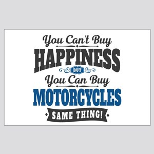 Biker Happiness Large Poster