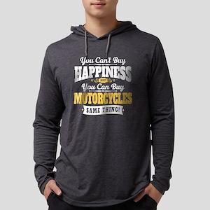 Biker Happiness Mens Hooded Shirt