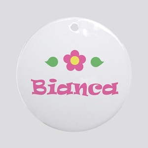 "Pink Daisy - ""Bianca"" Ornament (Round)"