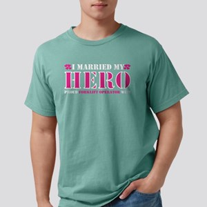 I Married Hero Proud Forklift Operator Wif T-Shirt