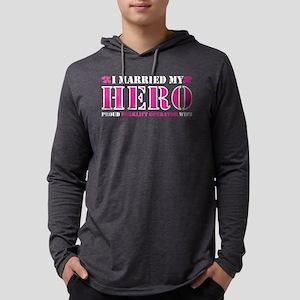 I Married Hero Proud Forklift Long Sleeve T-Shirt