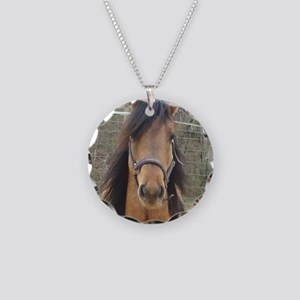 Kiger Stallion Necklace Circle Charm
