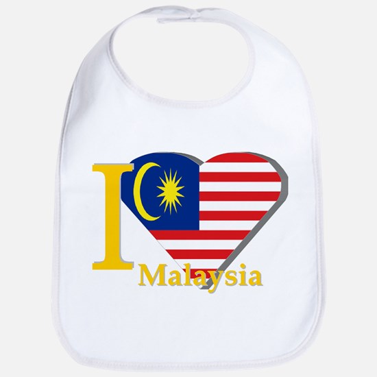 I love Malaysia flag Bib