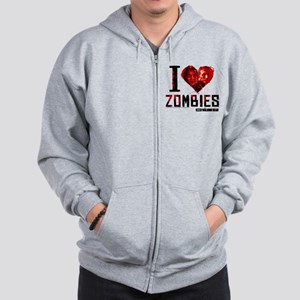 I heart Zombies Zip Hoodie