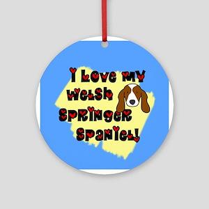 Love Welsh Springer Spaniel Ornament (Round)