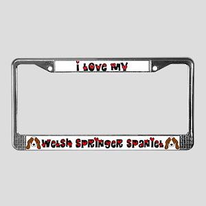 Love Welsh Springer Spaniel License Plate Frame