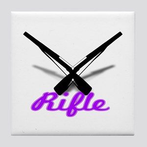 Purple Rifles Tile Coaster