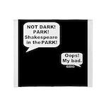Shakespeare in the Dark Throw Blanket