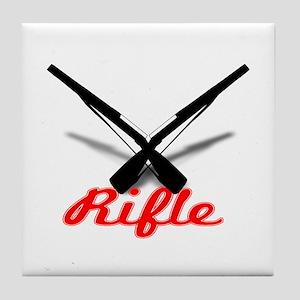 Red Rifles Tile Coaster