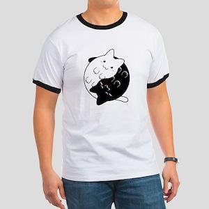 Ying Yang Cat T-Shirt