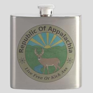 Republic Of Appalachia Flask